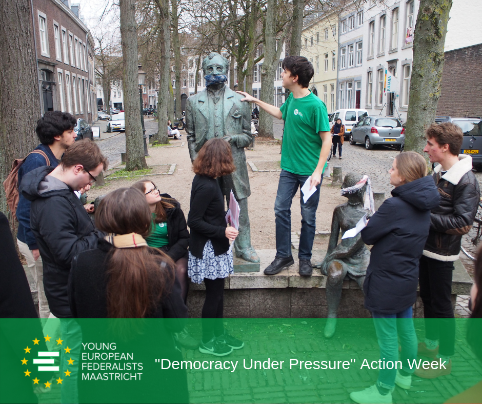 Democracy Under Pressure 2019 - JEF Maastricht in action for Human Rights in Belarus 2