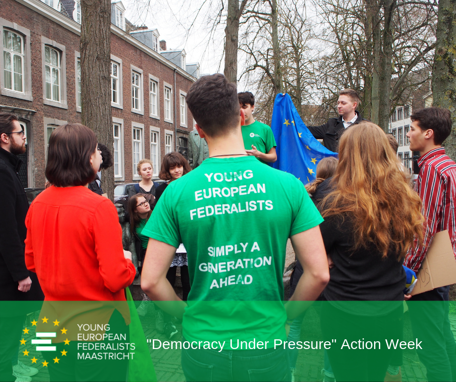 Democracy Under Pressure 2019 - JEF Maastricht in action for Human Rights in Belarus 7