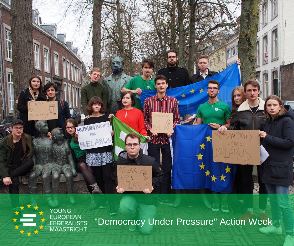 Democracy Under Pressure 2019 - JEF Maastricht in action for Human Rights in Belarus 5